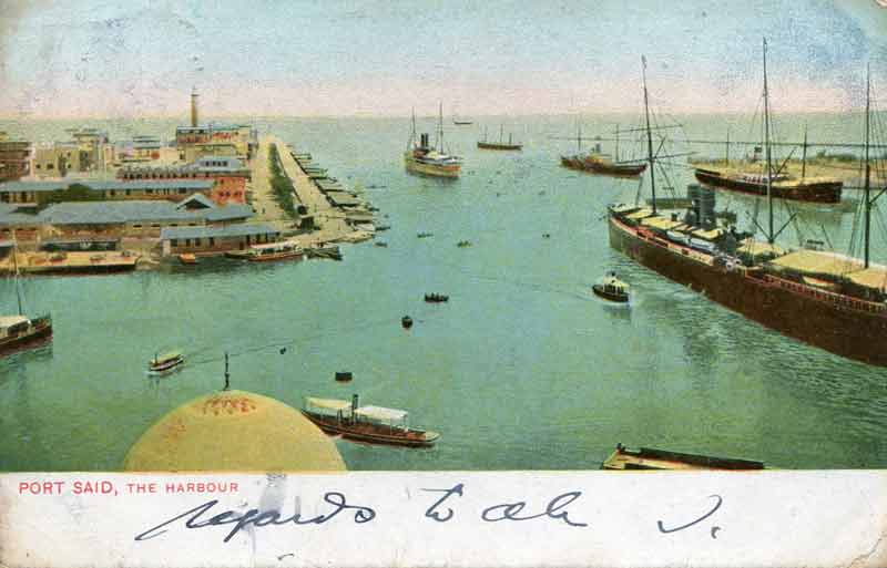 Port Said, The Harbour around 1900